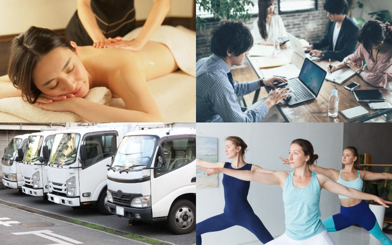 クライアントは、習い事教室・リラクゼーションサロン経営者から、法人(運輸・メーカー・IT・士業等)まで多岐にわたります。